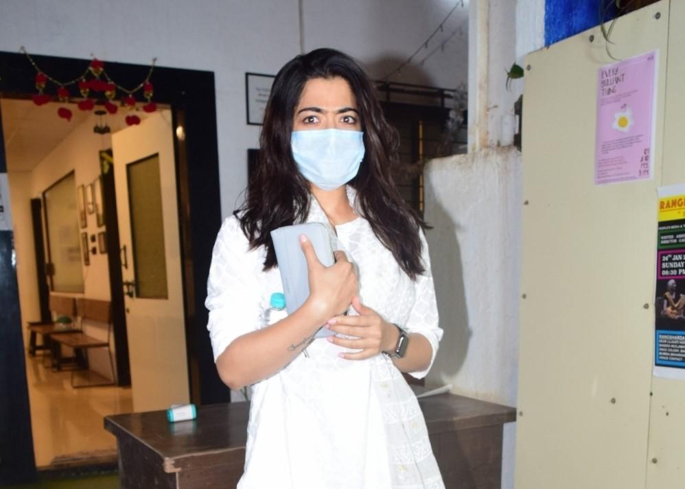 South Actress Rashmika Mandanna Spotted At Mukesh Chhabra Office
