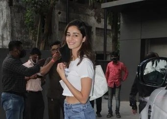 Ananya Panday spotted dance class in Andheri