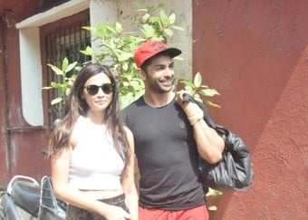 Daisy Shah and Taaha Shah spotted at Dance class in Andheri