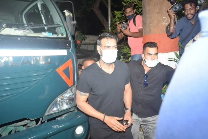 Ajay Devgan Spotted On-Location In Bandra