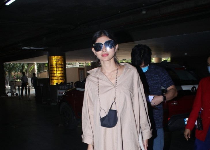 Mouni Roy spotted at airport arrival