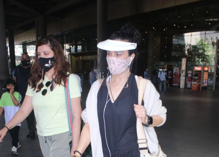 Preity Zinta spotted at airport arrival