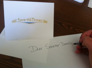 writing letter to elected official