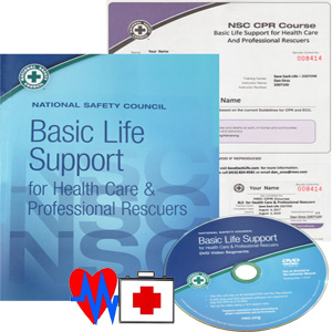 Basic Life Support workbook, DVD and certificate