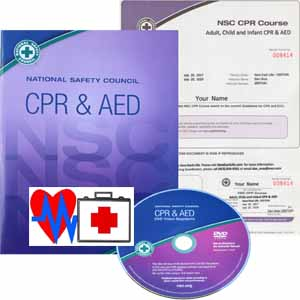 CPR workbook, DVD and certificate