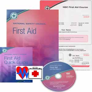 First Aid workbook, guide, DVD and certificate