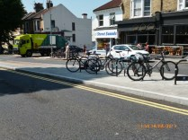 Road safety combined with cycle racking opportunity!
