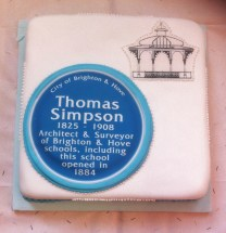 The Brighton Society commemoration cake