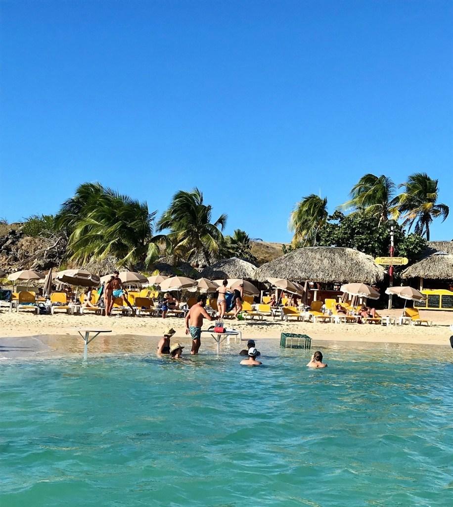 Pinel Island's beach