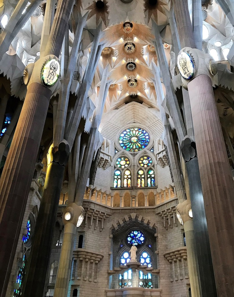 La Sagrada Familia Basilica in Barcelona, Spain