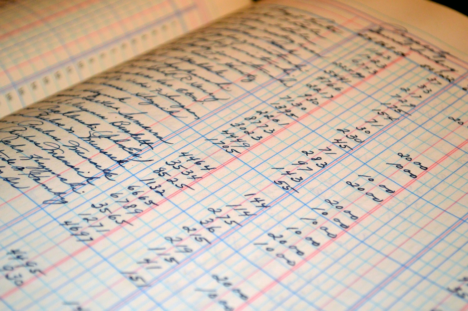 white graphing paper with numbers - organize finances for retirement
