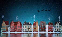 Christmas houses-holiday spending