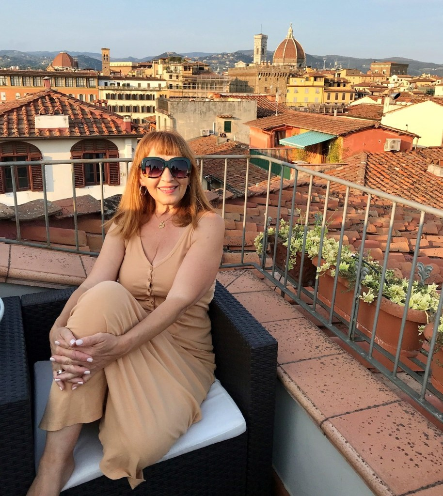 roof top terrace with the view of Florence
