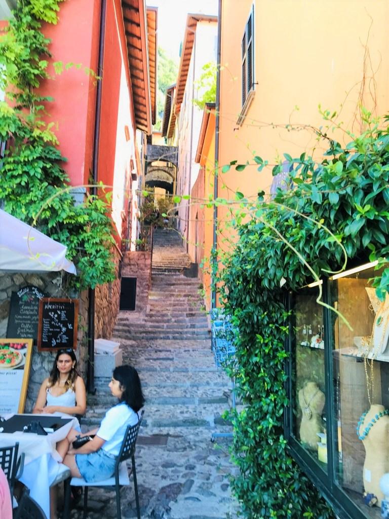 Town center in Varenna - best towns in Lake Como
