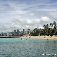 Kaimana Beach, the last local beach in Honolulu.