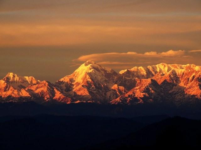 Sunset over Trishul
