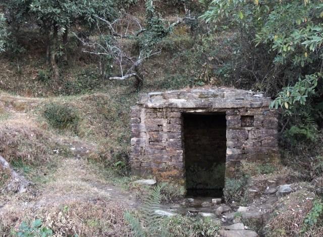 traditional naula or underground spring