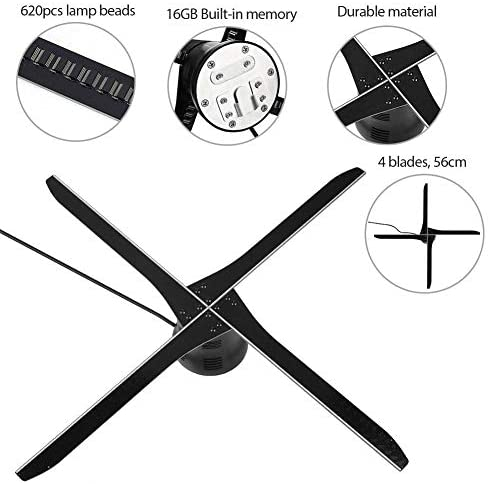 ASHATA 16 GB WiFi 3D Hologram Projector, LED Proiettore Olografico 3D...