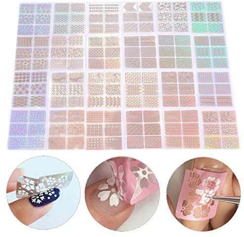 Adesivo per Unghie, 24Pcs DIY Nail Art Transfer Sticker Manicure Decal...