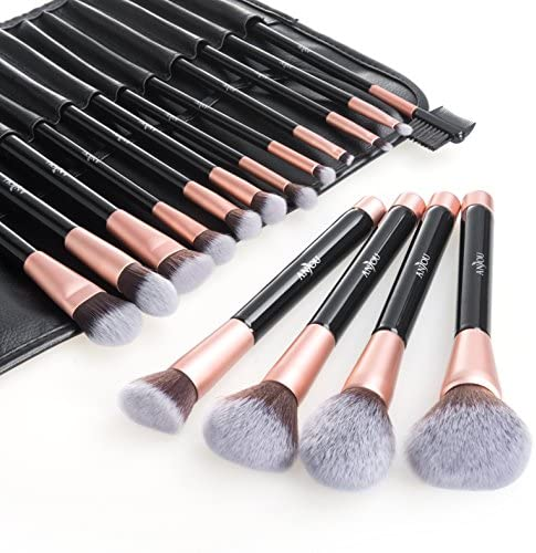 Anjou Pennelli Make up Set di 16, Pennelli Trucco Professionali con...
