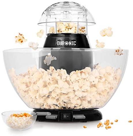 Duronic POP50 Macchina per Popcorn ad aria calda – Capacità di 50 g con...