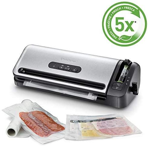 FoodSaver FFS017X Macchina per Sottovuoto Alimenti, 5 Sacchetti...
