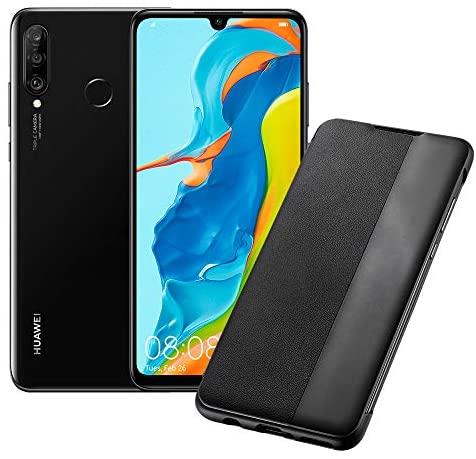 HUAWEI P30 Lite Smartphone, Nero + Cover, 4 GB RAM, Memoria Espandibile da...