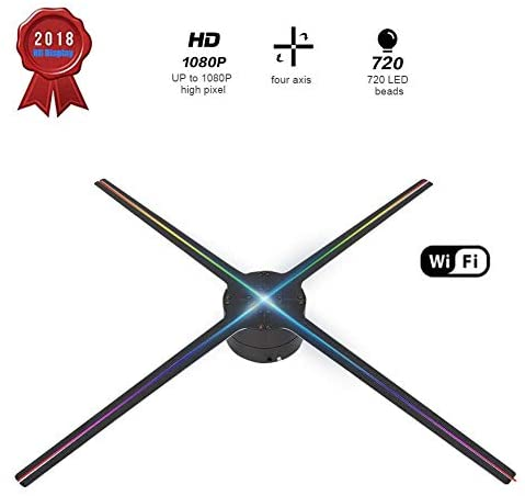 Hakeeta Proiettore olografico 3D, 4 Pagine rotanti 768 Lampada Perline...