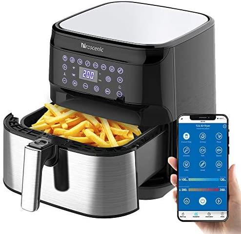 Proscenic Friggitrice ad Aria, 5.5L Air Fryer Controllo App & Alexa e...