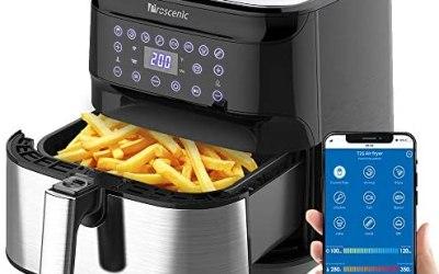 Proscenic Friggitrice ad Aria, 5.5L Air Fryer Controllo App & Alexa e…