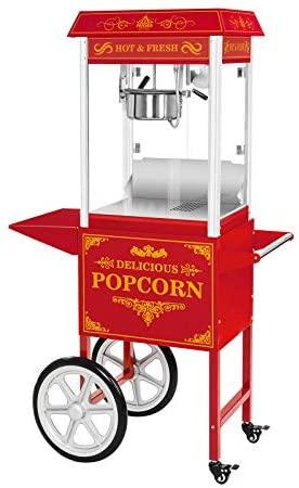 Royal Catering - RCPW-16.3 - Macchina per popcorn con carretto - rosso