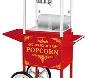 Royal Catering – RCPW-16.3 – Macchina per popcorn con carretto – rosso