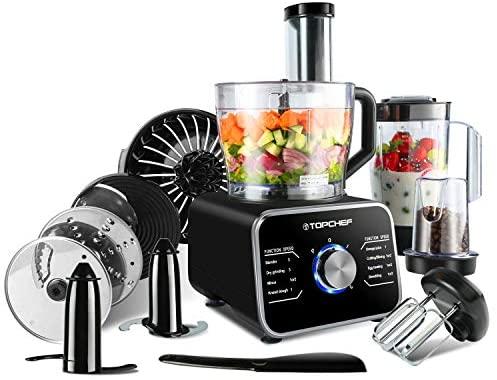 Topchef robot da cucina 1100W Robot da Cucina Compatto (con accessori...