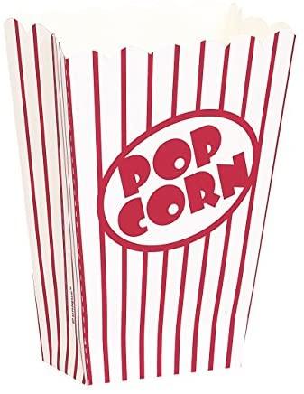 Unique Party 59023 - Piccole Scatole di Popcorn, Confezione da 8