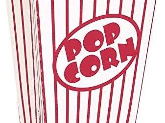 Unique Party 59023 – Piccole Scatole di Popcorn, Confezione da 8