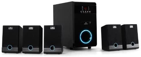 auna 5.1-JB - Surround Sound System 5.1, home theatre, RMS 95 Watt, activ...