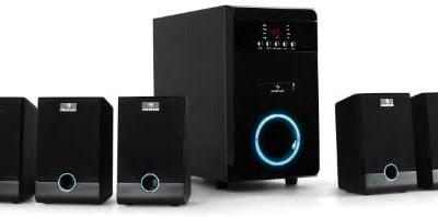 auna 5.1-JB – Surround Sound System 5.1, home theatre, RMS 95 Watt, activ…