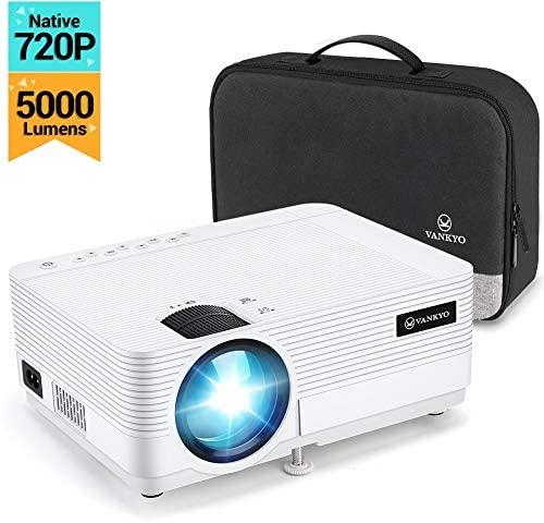 "vankyo Proiettore 720P 5000 Lumen, Videoproiettore Display da 250"" HiFi..."