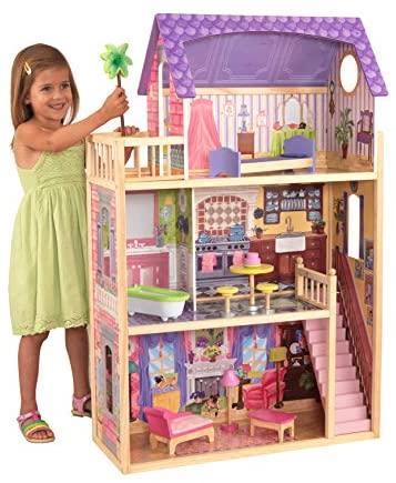 KidKraft 65092 Casa legno Kayla per bambole di 30cm con 10 accessori...