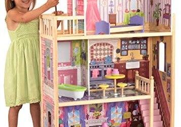 KidKraft 65092 Casa legno Kayla per bambole di 30cm con 10 accessori…