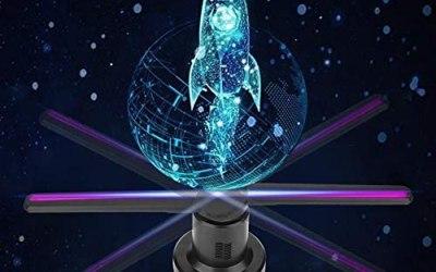 Pbzydu Ventilatore olografico 3D, proiettore HD 3D con Display Ologramma…