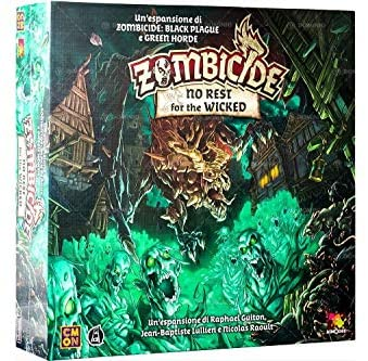 Asmodee- Zombicide Green Horde: No Rest for The Wicked, Gioco da Tavolo,...