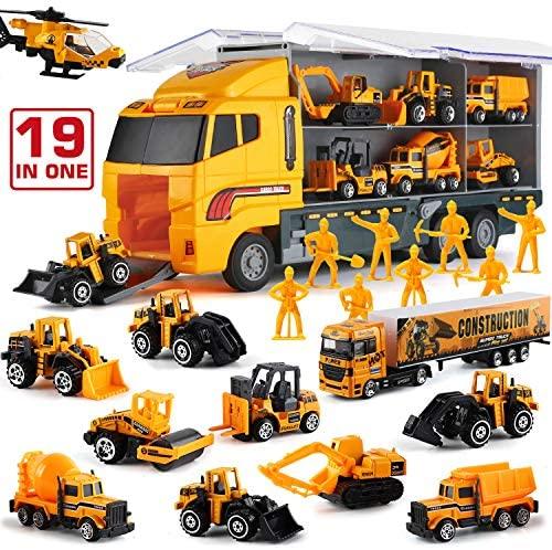 Camion Giocattolo con Minifigure 19 in 1, Mini Modellini in Metallo con...