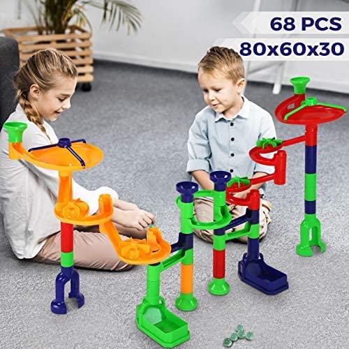 Costruttivi Pista per Biglie - per Bambini 3+ Anni, 80x60x30 cm,...