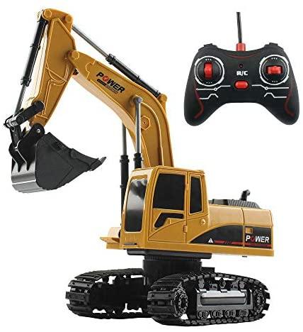 Escavatore RC, Camion cantiere telecomando bambini Veicoli giocattolo...