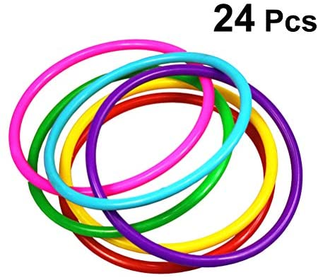 Toyvian Anelli di Lancio di plastica 24pcs per Bambini Ring Toss Gioco di...
