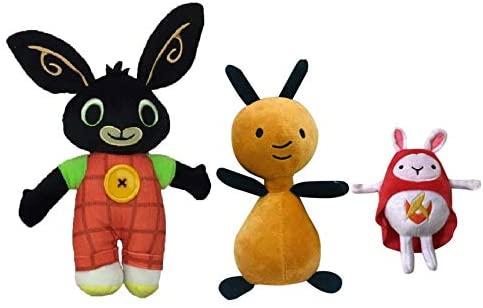 Bing Peluche Hoppity VOOSH E Flop Peluche Coniglio Bunny Serie TV...
