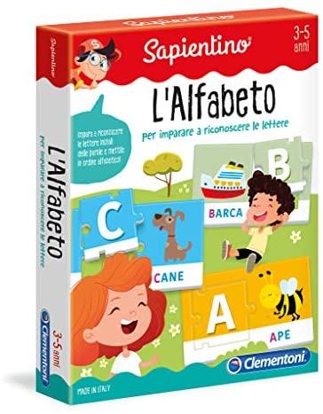 Clementoni 12893 - Sapientino Tessere Illustrate L'Alfabeto