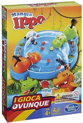 Hasbro Gaming - Mangia Ippo Travel (Gioco in Scatola), B1001103 [Lingua...