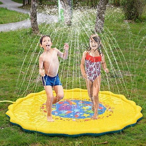 ROCONAT 67 Pollici Bambini Giochi d'Acqua, Splash Play Mat Sprinkler Pad -...